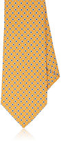 Isaia MEN'S FLOWER-PRINT SILK NECKTIE