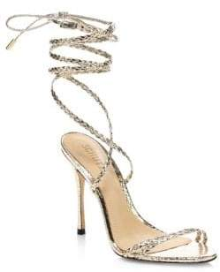Schutz Lany Braided Stiletto Sandals