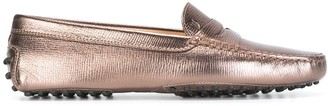Tod's Metallic Loafers
