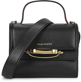 Alexander McQueen The Story black leather top handle bag