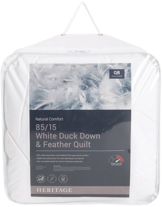 Heritage 85/15 White Duck Down & Feather Quilt No Colour