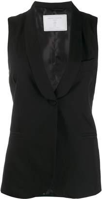 Societe Anonyme Striped-Print Single Breasted Vest