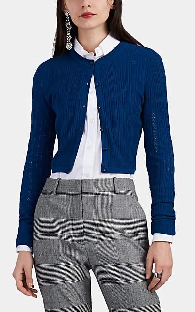 Altuzarra Women's Cygnet Cotton Crop Cardigan - Navy
