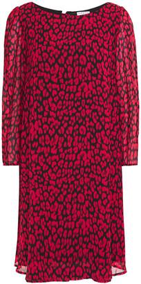 Claudie Pierlot Leopard-print Crepe De Chine Mini Dress