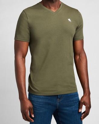 Express Small Lion V-Neck T-Shirt