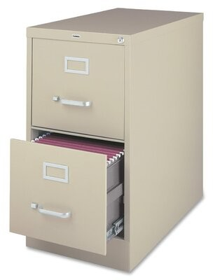 2-Drawer Vertical Filing Cabinet Lorell Finish: Putty