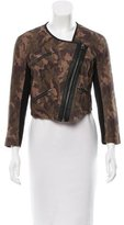 Cut25 by Yigal Azrouël Camouflage Suede Jacket w/ Tags