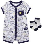 Absorba Romper & Socks Set (Baby Boys)