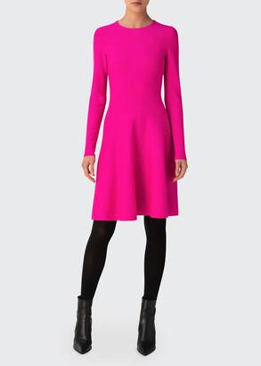 Akris Punto Fit-&-Flare Milano Knit Dress