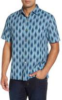 Tommy Bahama Men's Big & Tall Ikat On A Hot Tin Roof Silk Blend Camp Shirt