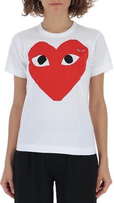 Comme des Garcons Double Heart Logo T-Shirt