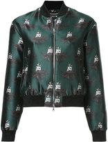 Markus Lupfer bear print bomber jacket