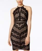 Morgan & Company Juniors' Lace Halter Sheath Dress