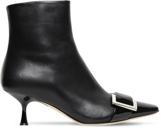Sergio Rossi 60mm Archive Leather Ankle Boots