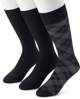 Marc Anthony Men's 3-pack Textured & Patterned Microfiber Dress Socks