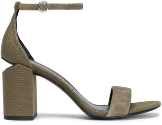 Alexander Wang Abby Suede And Canvas Sandals