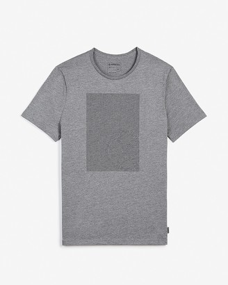 Express Gray Outlined Logo Graphic T-Shirt