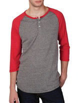 Alternative Colorblock Henley Tee