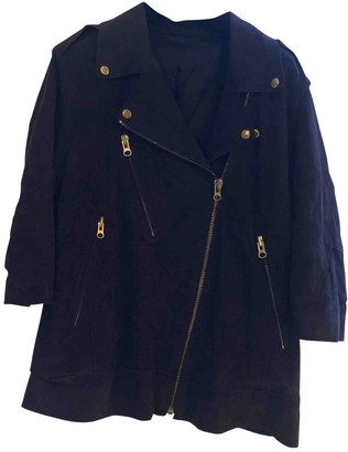 Acne Studios Navy Suede Jackets