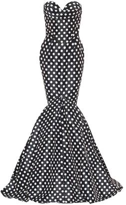 Richard Quinn Exclusive to Mytheresa Polka-dot taffeta gown