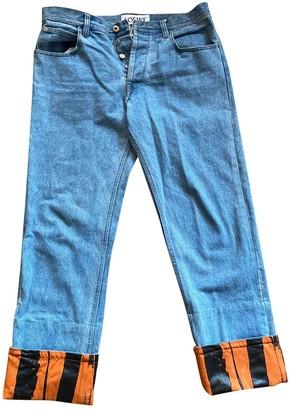 Loewe Blue Cotton Jeans