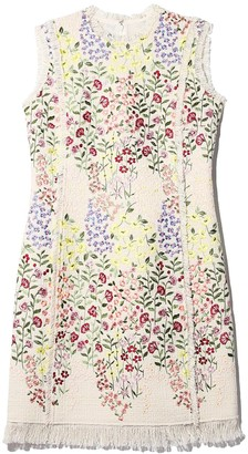 Giambattista Valli Embroidery Dress in Ivoire/Gilly Flowers