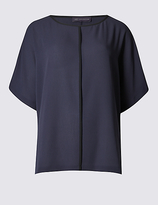 M&S Collection Contrasting Edge Kimono Shell Top
