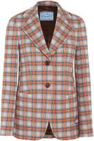 Prada Checked Jacquard-knit Blazer