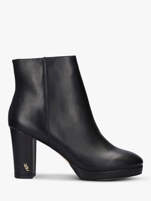 Kurt Geiger Rome Block Heel Leather Ankle Boots, Black