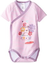 Zutano Baby-Girls Flower Jam Screen Short Sleeve Wrap Body