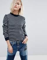 Pepe Jeans Lira Stripe Alpaca Wool Mix Knit Sweater