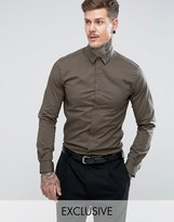 Noose & Monkey Skinny Smart Shirt With Point Collar