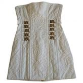 Balmain White Cotton - elasthane Dress