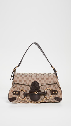 Shopbop Archive Gucci Horsebit Chain Flap Bag