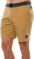 The Critical Slide Society Plain Jane Fixed Waist Mens Boardshort Yellow
