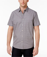 Michael Kors Men's Tailored-Fit Dash-Print Cotton Shirt