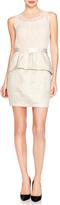 The Limited Jacquard Peplum Dress