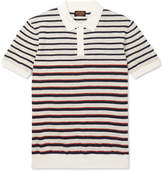 Tod's Slim-Fit Striped Cotton And Linen-Blend Polo Shirt