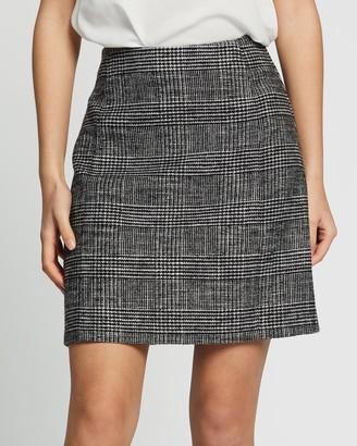 Marcs Plaid Mini Skirt