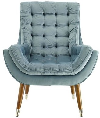 Everly McCaysville Lounge Chair Quinn Upholstery Color: Ivory