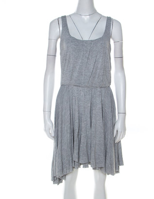 Marc by Marc Jacobs Grey Marled Jersey Layered Skirt Short Dress M