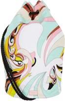 Emilio Pucci Printed Towel Drawstring Bag, White, One Size