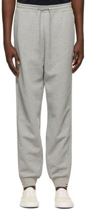Thom Browne Grey RWB Stripe Loopback Sweatpants