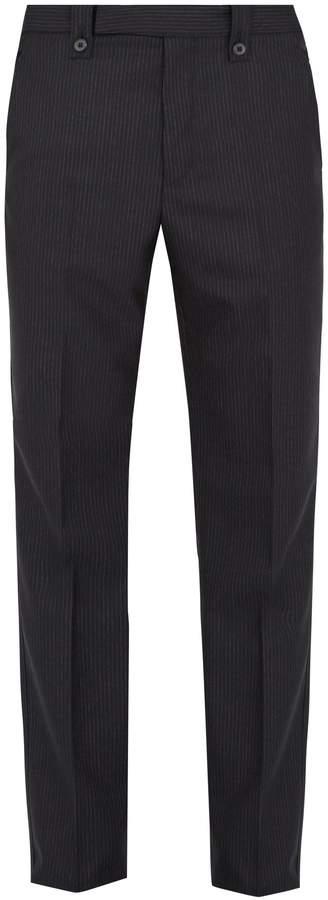 Lanvin Slim-fit pinstriped wool trousers