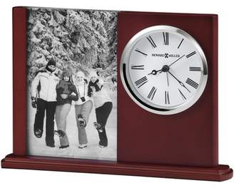 Howard Miller Portrait Caddy II Table Clock 645-780 - Satin Rosewood with Quartz Movement