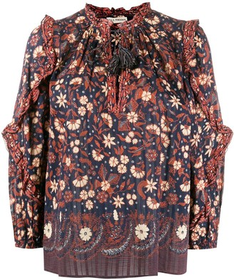 Ulla Johnson Azelea tassel peasant blouse