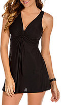 Miraclesuit Must Have Marais V-Neck Swim Dress