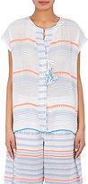 Lemlem Women's Aden Striped Cotton-Blend Gauze Shirt