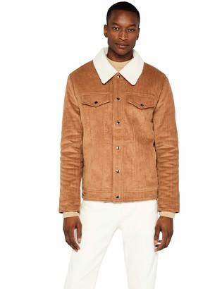 Find. Amazon Brand Men's Borg Collar Cord Trucker Jacket