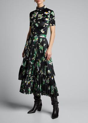 Richard Quinn Daisy Tiered Ruffle Skirt